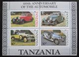 Poštovní známky Tanzánie 1986 Staré automobily Mi# Block 53