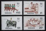Poštovní známky Tanzánie 1986 Mezinárodní rok mládeže Mi# 288-91