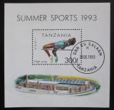 Poštovní známka Tanzánie 1993 Skok do výšky Mi# Block 212
