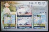 Poštovní známky Burundi 2012 Umění, Claude Monet DELUXE Mi# 2356,2358 Kat 10€