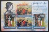 Poštovní známky Burundi 2012 Jana z Arku DELUXE Mi# 2292-93 Kat 10€