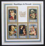 Poštovní známky Burundi 1977 Vánoce, umění neperf. Mi# Block 108 B Kat 15€