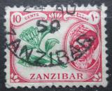 Poštovní známka Zanzibar 1957 Hřebíčkovec kořenný Mi# 226