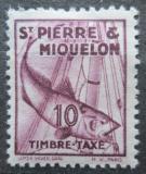Poštovní známka St. Pierre a Miquleon 1938 Treska obecná, doplatní Mi# 33