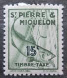 Poštovní známka St. Pierre a Miquleon 1938 Treska obecná, doplatní Mi# 34