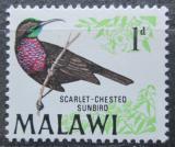 Poštovní známka Malawi 1968 Strdimil senegalský Mi# 92