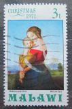 Poštovní známka Malawi 1971 Vánoce, umění, William Dyce Mi# 162