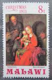 Poštovní známka Malawi 1971 Vánoce, umění, Martin Schongauer Mi# 175