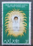 Poštovní známka Malawi 1976 Vánoce, jezulátko Mi# 273