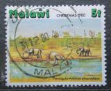 Poštovní známka Malawi 1980 Vánoce, dětská kresba Mi# 352