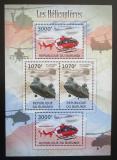 Poštovní známky Burundi 2012 Helikoptéry Mi# 2472,2474 Kat 10€