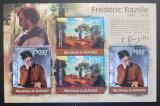 Poštovní známky Burundi 2012 Umění, Frédéric Bazille DELUXE Mi# 2361-62 Kat 10€