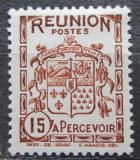 Poštovní známka Reunion 1933 Státní znak, doplatní Mi# 18