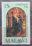 Poštovní známka Malawi 1988 Vánoce, umění Mi# 521