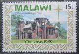 Poštovní známka Malawi 1989 Vánoce, kostel Mi# 541