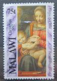 Poštovní známka Malawi 1992 Vánoce, umění Mi# 606