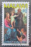 Poštovní známka Malawi 1997 Vánoce, umění Mi# 681