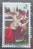 Poštovní známka Malawi 1998 Vánoce, umění, Leonardo da Vinci Mi# 698