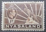 Poštovní známka Ňasko, Malawi 1938 Král Jiří VI. a levhart Mi# 54