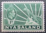 Poštovní známka Ňasko, Malawi 1942 Král Jiří VI. a levhart Mi# 55
