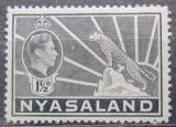 Poštovní známka Ňasko, Malawi 1942 Král Jiří VI. a levhart Mi# 57