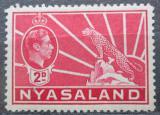 Poštovní známka Ňasko, Malawi 1942 Král Jiří VI. a levhart Mi# 59