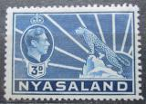 Poštovní známka Ňasko, Malawi 1938 Král Jiří VI. a levhart Mi# 60