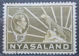 Poštovní známka Ňasko, Malawi 1938 Král Jiří VI. a levhart Mi# 63