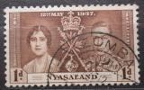 Poštovní známka Ňasko, Malawi 1937 Královský pár Mi# 50