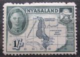 Poštovní známka Ňasko, Malawi 1945 Mapa Mi# 78