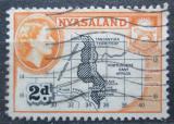 Poštovní známka Ňasko, Malawi 1953 Mapa Mi# 102