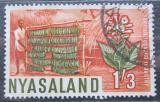 Poštovní známka Ňasko, Malawi 1964 Sušení tabáku Mi# 132
