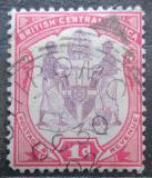 Poštovní známka Britská Střední Afrika 1901 Státní znak Mi# 56