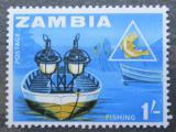 Poštovní známka Zambie 1964 Noční rybolov Mi# 8