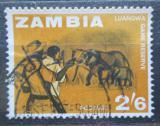 Poštovní známka Zambie 1964 Sloni Mi# 11