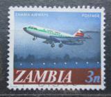 Poštovní známka Zambie 1968 Dopravní letadlo Mi# 41