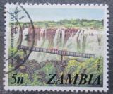 Poštovní známka Zambie 1975 Viktoriiny vodopády Mi# 145