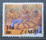 Poštovní známka Zambie 1979 Hudební skupina přetisk Mi# 198