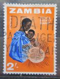 Poštovní známka Zambie 1964 Pletení košíků Mi# 10