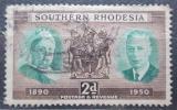 Poštovní známka Jižní Rhodésie, Zimbabwe 1950 Královský pár Mi# 72
