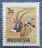 Poštovní známka Rhodésie, Zimbabwe 1974 Antilopa koňská Mi# 142