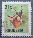 Poštovní známka Rhodésie, Zimbabwe 1974 Antilopa losí Mi# 141