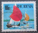 Poštovní známka Rhodésie, Zimbabwe 1970 Plachetnice na jezeře Mclllwaine Mi# 94