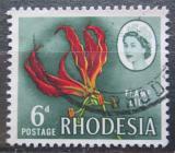 Poštovní známka Rhodésie, Zimbabwe 1966 Glorióza vznešená Mi# 50