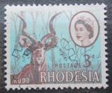 Poštovní známka Rhodésie, Zimbabwe 1966 Kudu velký Mi# 26