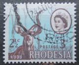 Poštovní známka Rhodésie, Zimbabwe 1967 Kudu velký přetisk Mi# 57