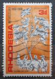 Poštovní známka Rhodésie, Zimbabwe 1968 Obsazení Metabele, 75. výročí Mi# 75