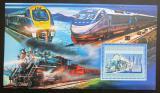 Poštovní známka Guinea 2006 Americké lokomotivy Mi# Block 1039