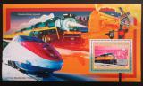 Poštovní známka Guinea 2006 Americké lokomotivy Mi# Block 1042