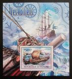 Poštovní známka Burundi 2012 Plachetnice Mi# Block 229 Kat 9€